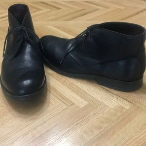 Clarks Black Leather Boots Size 13
